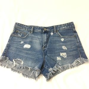 Free People Distressed Cut Offs Size 31